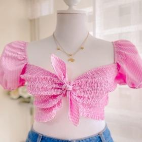(Desliza para ver la magia✨) Blusa Off Shoulder Vichy 💖 Úsala de dos formas ✨ Disponible en la web www.luandaclothes.com . . . . #shop #online #vichy #trend #fashion #style #moda #blusas #trending